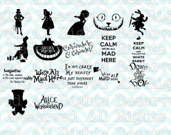 Alice in Wonderland SVG, Alice SVG, Disney Princess Silhouettes, Girl Decor, Cards, Frog Princess Graphic, Vinyl, SVG,