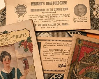 Collection of household ephemera/advertising (1900s to 1940s)