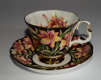 """ROYAL ALBERT, """"Prairie Lily"""" Provincial Flowers Series Tea Cup and Saucer, Bone China, Teacup, and saucer, England, Vintage"""