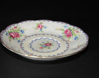 """Royal ALBERT, Bone China, """"Petit Point China"""", orphan teacup SAUCER ONLY, England, Vintage, Gold Gilt England, Replacement plate"""