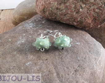 Frosted Berry, handmade Lampwork beads