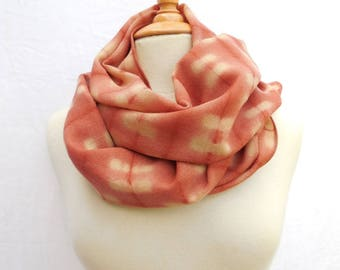 Copper Orange wool Challis scarf