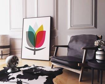 Lamina Flor, Lamina decorativa, Cuadros modernos, Impresión digital, Arte,
