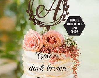 Wedding Cake Topper Letter cake topper A, Unique Cake Topper, Monogram Cake Topper, Initials Cake Topper Single Letter, Personalised Topper