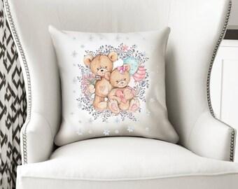 Teddy Bear Cushion, Teddy Bear, Cushion, Pillow, Cushion Cover, Teddy Bear Pillow, Nursery, Nursery Decor, Teddy, Baby Shower Gift, Bear