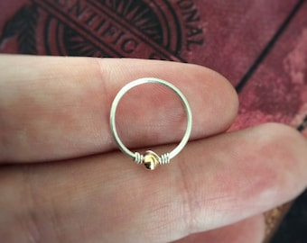 9CT Gold Hoop / Sterling Silver Hoop / Septum Ring / Conch hoop / Cartilage / Helix / Lip / Nipple Ring / 14G 16G 18G 20G 22G