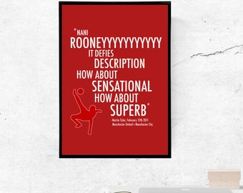 Wayne Rooney, Manchester United - A3/A4 Print
