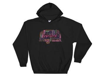 Girl Camping Hooded Sweatshirt - Camping Clothing For Women
