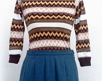 vintage knitted turtleneck sweater