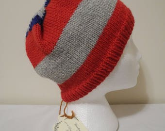 Captain America Hand Knit Hat
