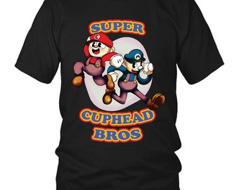 Super cuphead bross funny shirt for Women and Men
