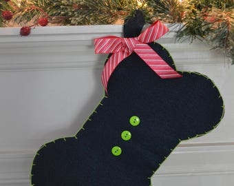 """Pet Christmas Stocking - """"Cute as a Button"""""""
