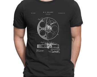 Film Reel 1915 Patent T Shirt, Movie Shirt, Vintage Movie Shirt, Cinema, Film T Shirt, Film Director, Movie Buff P244