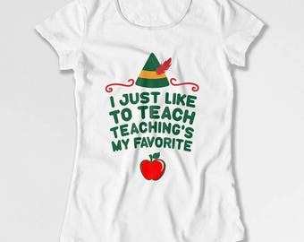 Funny Christmas Gifts For Teacher T Shirt Holiday Outfit Xmas Present Christmas Ideas Holiday TShirt Xmas Clothes Mens Ladies Tee TEP-70