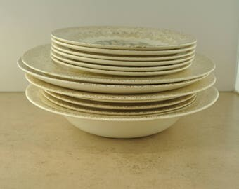 Royal China Inc. Colonial Gold Set of Dishes - Gold Leaf