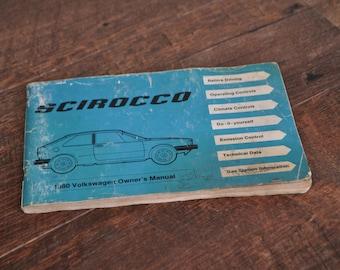 1980 Volkswagen Scirocco Owner's Manual