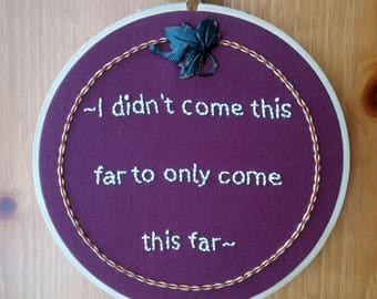 Resilience - Embroidery Hoop Art
