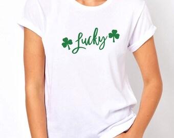 st patricks day, shamrock glitter, women shirt, women tshirt, glitter shirt, st patricks shirt, st pattys day, glitter shamrock, lucky shirt