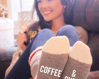 Coffee & Chill Cabin Socks