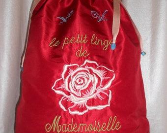Fine Miss pink lingerie bag
