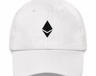 CRYPTOCURRENCY ETHEREUM Baseball Cap, Low Profile, Adjustable Back, Unstructured Hat - Great Christmas Gift