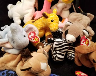 18 Piece Set of Ty Original Beanie Babies from 1993-1995 with Tags