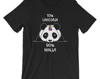 Ninja Panda Unicorn UNISEX T-Shirt Pandicorn Unicorn Shirt Gift