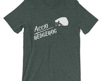 Accio Hedgehog Cute Shirt | Funny Hedgehog Shirt | Hedgehog Astronaut T-Shirt | Short-Sleeve Unisex T-Shirt