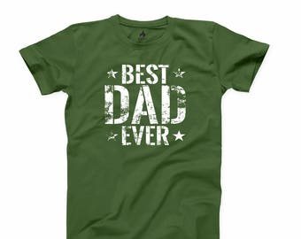 Best Dad Ever T Shirt Fathers Day Gift Grandpa T-shirt Papa Daddy Tee Father T-shirt