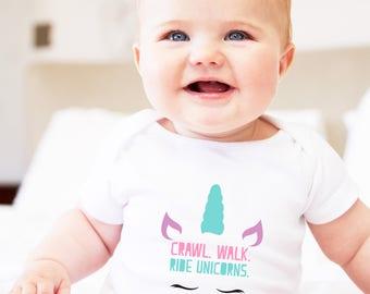 babies clothes, baby girl, unicorn gift, unicorn baby, unicorn baby shower, unicorn baby gift