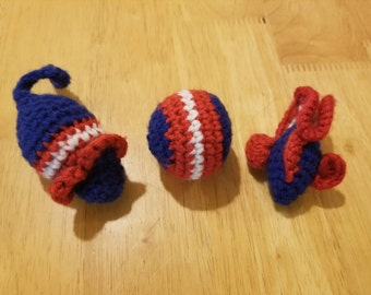 Crochet Catnip Cat Toy Set  - Handmade