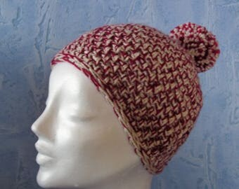 Bobble cap Ku 54-55 in red beige