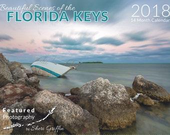 "2018 Calendar ""Beautiful Scenes of the Florida Keys""  14month Calendar"