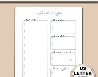 Minimal To Do List (Letter Size)