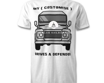 Land Rover Adults T-Shirt, Land Rover, Defender, Truck, Novelty T-Shirt, Cars, Novelty Gift, Defender T-Shirt, Land Rover T-Shirt Adults
