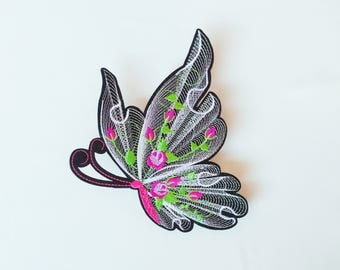 3Dbutterfly patch/large patch/iron on patch/sew on patch/embroidered patch/patch for jacket