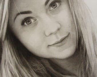 Custom Portrait Drawing Portrait Graphite Portrait Personalize Portrait Portrait from Photo Family portrait Commission artwork Made to order