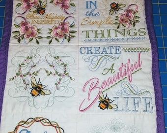 Wall Hanging Inspirational Beautifully Embroidered