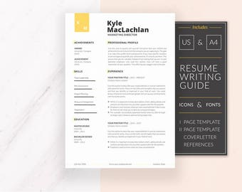 Modern Resume Template | Resume Template for Word | CV Template + Cover Letter & References | Professional Resume | Instant Download | KYLE