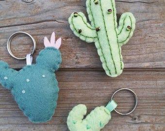 Cactus Key Ring, keychain, bag pendant, magnet, cactus Magnet