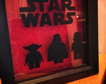 Handmade Star Wars Lego Darth Vader frame can be personalised  Christmas, birthdays