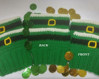 Crochet St. Patrick's Day/ St. Paddy's Lucky Leprechaun Boot Cuffs/ Boot Topper/ Boot Accessories