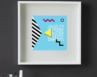 80s/90s Print Pattern, Geometric Print, Ikea Ribba Frame, Downloadable, Prints