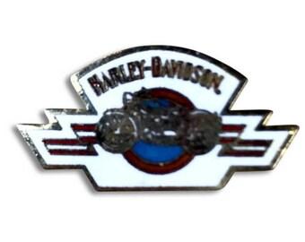 HARLEY DAVIDSON PIN: Vintage Enamel Pin | Rare Harley Davidson Pin | Collectible Vintage Motorcycle Pin - Biker -  !