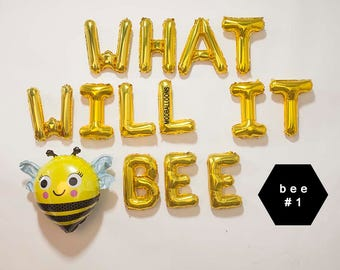 What Will It Bee Gender RevealWhat Balloon BannerWhat