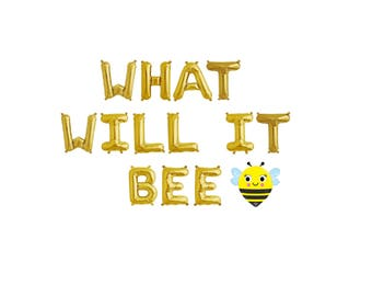 What Will It Bee Gender Reveal,What Will It Bee Balloon Banner,What Will It Bee Banner,What Will It Bee Decor,Gender Reveal Baby Shower