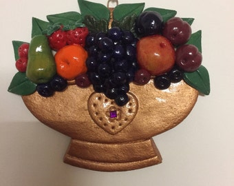 Copper Effect Bowl of Fruit