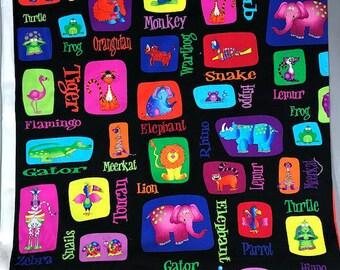 RJR Fabrics, Jungle Things, Childrens Print, Animal Print