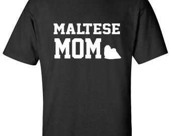 Maltese Dog mom 100% Cotton Graphic Logo Tshirt