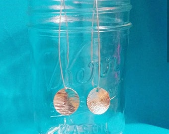 Sterling Silver Threaders * 925 Sterling Silver * Threaders * Circle Earrings * Circle Discs * Handmade * Dangles
